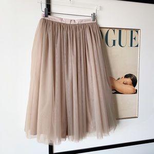 Stylishbrideaccs Waterfall Skirt Nude Tulle Tutu